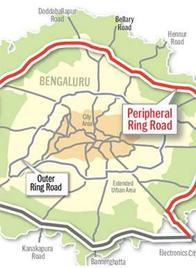 News on Bangalore's much awaited Peripheral Ring Road Connects Hosur Road (after E-City), Whitefield, Hoskote and Int'l Airport. - by JR Housing Developers Pvt. Ltd., Bangalore