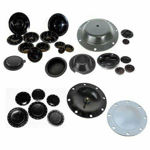 DIAPHRAGMS  We can provide the comphrehensive range of natural rubber. diaphrams for various applications. The diaphrams have been used in functioning of Switch Control. Valves, Pump and Accumulator.  Category:Natural Rubber    DESCRIPT - by Venus Enterprise, Ahmedabad