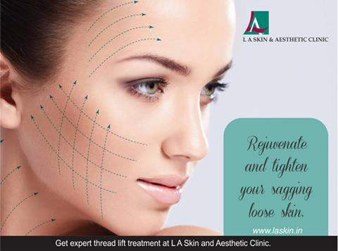 Rejuvenate and tighten your sagging loose skin. Get expert thread lift treatment at L A Skin and Aesthetic Clinic. #LAskin #la #laskinaesthetic #dermatology #dermatologydelhi #bestdermatologist #dermatologist #southdelhi #defencecolony #thr - by L A Skin & Aesthetic Clinic, New Delhi