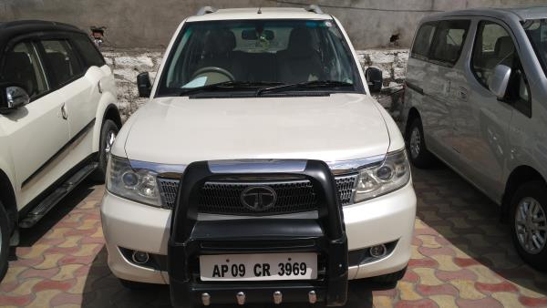 TATA SAFARI VX 4X2 2013 MODEL WHITE COLOR DONE 64K KMS COMPLETE SHOWROOM HISTORY. - by Vasant Motors Pvt Ltd, Hyderabad