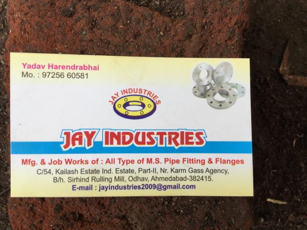 Mfg & Job works of All type of M.S Pipe Fittings & Flanges - by jay ind, Ahmedabad
