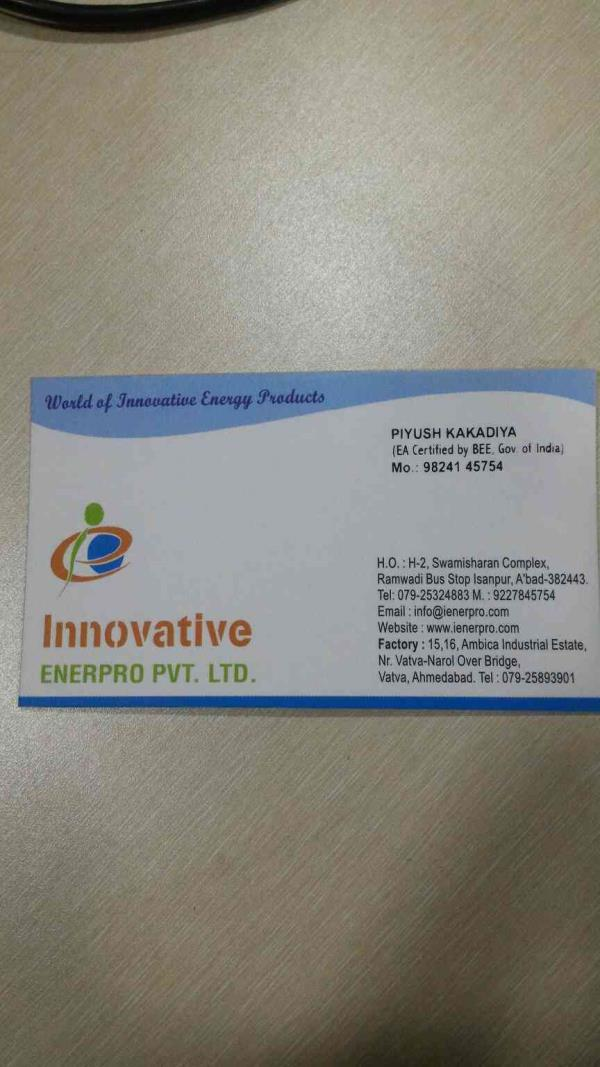 plz contact for innovative energy products as like Rectus Stream Trap, plenus condensed recovery pumps, CLANUS Sonic Shoot Remover and Boiler feeding automation systems  - by INNOVATIVE ENERPRO PVT LTD ,  Ahmedabad
