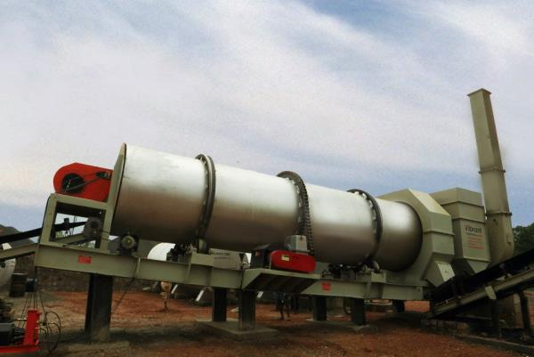 Vibrant Construction Equipments Pvt Ltd manufactures Asphalt Drum Mix Plants of the following capacities :  DM45 (40-60 TPH) DM50(60-90 TPH) DM60(90-120 TPH) - by Vibrant Construction Equipments, Hyderabad