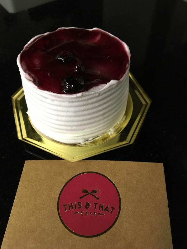 Blueberry Cheese Cake at This & That Cafe @ Goregaon (E) - by This & That Cafe , Mumbai Suburban