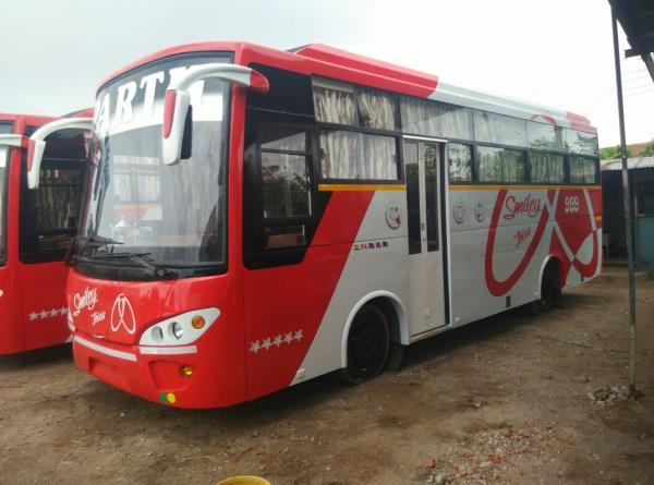 Greetings from PBSPL!!!  We have recently introduced grand new model of 35 Seat 3x2 Bus.  For your Joyful Memorable Journey!!! - by Parth Bus Services Pvt. Ltd., Vadodara