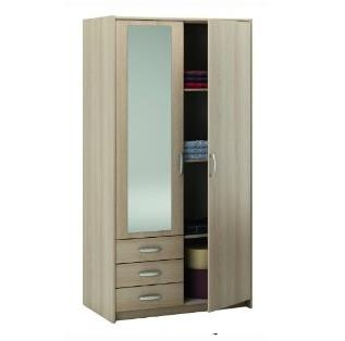 2 Door Wardrobe with Mirror Manufacturer   - by Planet Furniture, Chennai