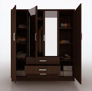 4 Door Wardrobe Manufacturer in Chennai  - by Planet Furniture, Chennai