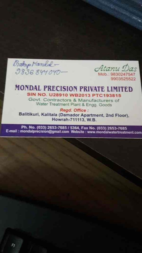 water treatment plant in howrah - by Mondal Precision Private Limited, Kolkata