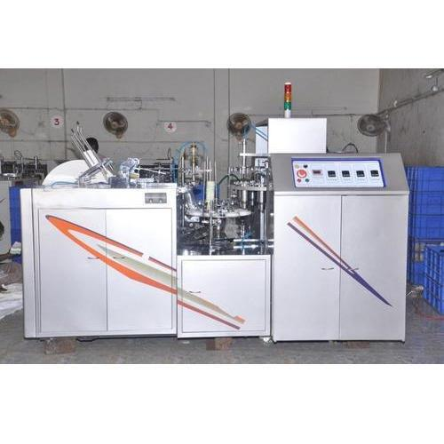 Best quality  Paper Cup Making Machine in coimbatore  Mfrs Disposable Cup Making Machine  The dimension and double weight and strength of Paper Cup Making Machine make it stable. The output ranges from 45 to 60 cups per minute. The input pa - by Vashini Exports, Coimbatore
