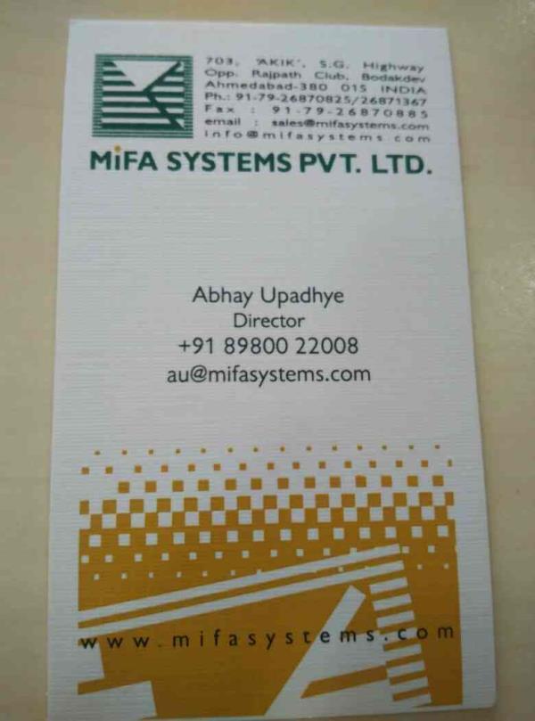 MiFA Systems Pvt Ltd .  - by MIFA Systems Pvt Ltd , Ahmedabad