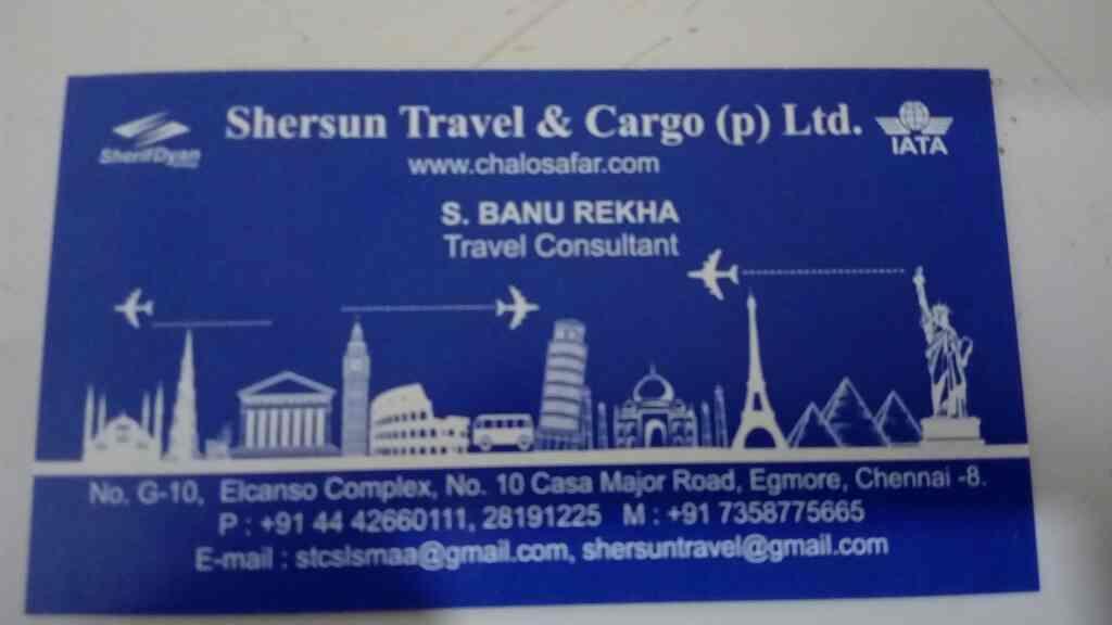 Best Travel Agency in Chennai  - by Shersun Travels, Chennai