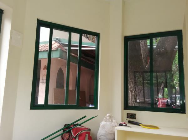 The best quality Green Color Aluminum sliding Windows works in Jublee Hills. The service available in Ameerpet, hyderabad.We are also provide all types of Aluminum sliding Windows, Aluminum 2-Track sliding Windows, Aluminum 3-Track sliding - by Sk Interior works, Hyderabad