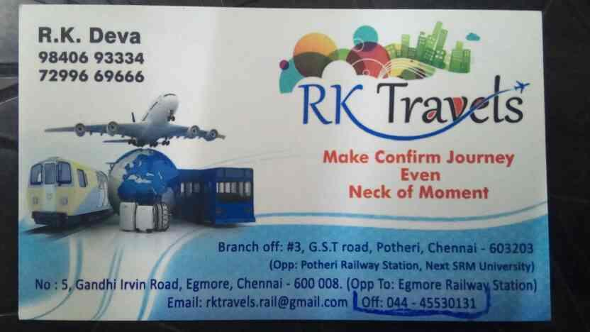 Bus ticket for all locations  - by RK Travels, Chennai