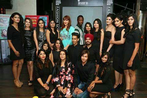 INIFD Corporate Director & Mentor Ms Priyanka Khosla mentoring our second year fashion designing student Faiz Zariwala and other 16 Proud Finalists of INIFD Gen Next Show @ Fashion Scout during London Fashion Week to Media #proudtobeinifdia - by INIFD HYDERABAD, Hyderabad