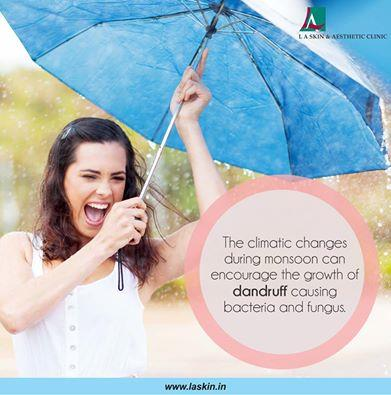 The climatic changes during monsoon can encourage the growth of dandruff causing bacteria and fungus. Consult a dermatologist at L A Skin & Aesthetic Clinic to solve your dandruff issue this monsoon. ‪#‎laskin‬ ‪#‎la‬ ‪#‎laskinandaestheticc - by L A Skin & Aesthetic Clinic, New Delhi