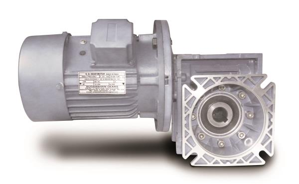 Manufacturer Of  Worm Gearbox  Motor In India   Aluminum Imported Gearbox Worm Shaft Hardened And Grounded , Worm Wheel Pb2 With Guarantee Certificate ,  FAG , ZKL Bearing , C-D-25 mm to 150 mm  With Solid Output Shaft And Hollow Output Sha - by Sudarshan Gears, Mumbai