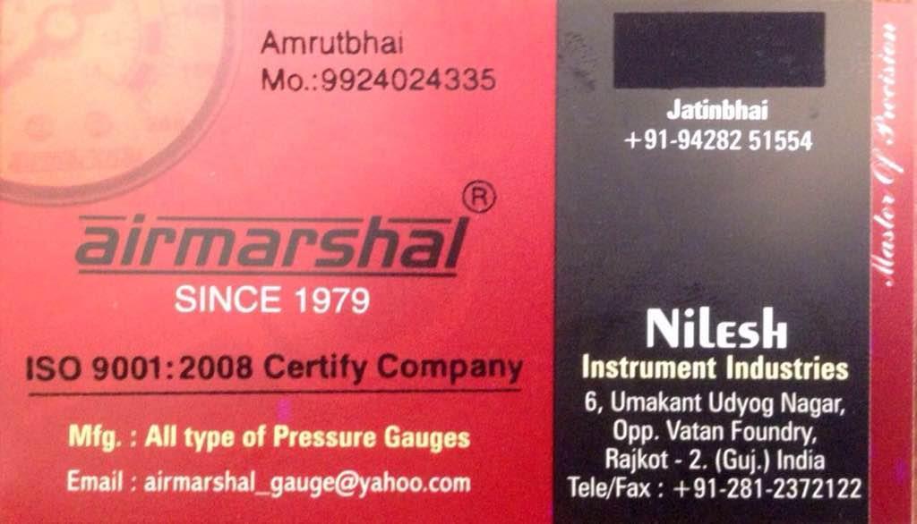 We r making all type of pressure gauge in Rajkot Gujarat  - by Nilesh Instruments Industries, Rajkot