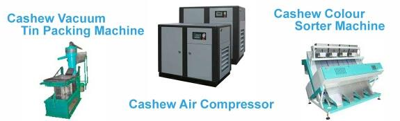 Cashew Air Compressor , Cashew color sorting machine and cashew packaging machine..  for more details   www.oscarcashewtech.com - by OSCAR CASHEW TECH,  Ahmedabad