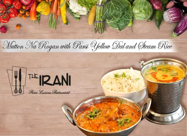 Mutton Na Rogan with Parsi Yellow Dal & Rice. feel the best taste of the town with the only Parsi Cuisine Restaurant of the city.  We serve the #Best-Hygienic-Food.   - by The IRANI Parsi Cuisine Restaurant, Surat
