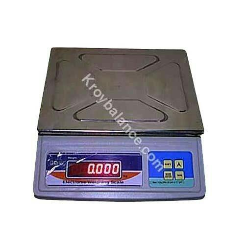 Electronic weighing machines :  These electronic weighing scales are highly accurate and easily fulfill the expectations of our clients. Our machines are easy to use and operate.  Table Top Scales in-built re-charge battery for continues us - by K .Roy&Co., Kolkata