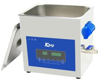 Bigger tank with Special basket for cleaning.S.S. 304 Housing available for rugged conditions.Digital LCD display for smooth working.Ideal for any kind of difficult cleaning objects.Heater & Timer Function available.Water spout for drainage - by K .Roy&Co., Kolkata