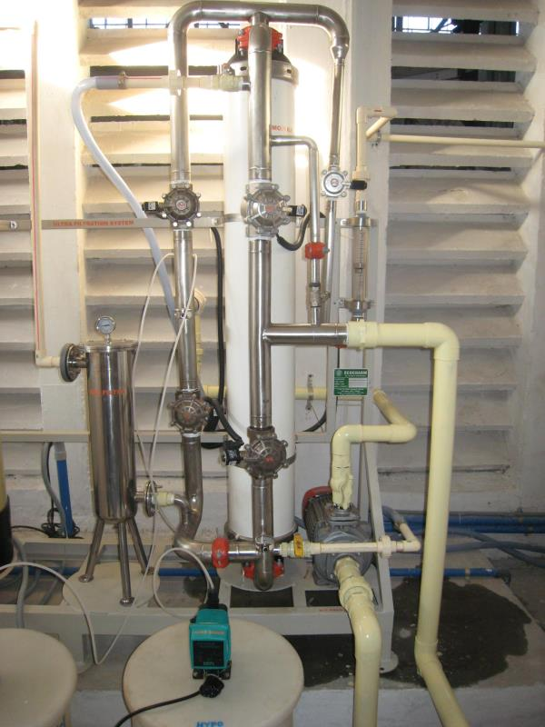 Pollution Control Equipments  Ultrafiltration (UF) is a variety of membrane filtration in which forces like pressure or concentration gradients lead to a separation through a semipermeable membrane. Suspended solids and solutes of high mole - by ECO  CHARM, Chennai