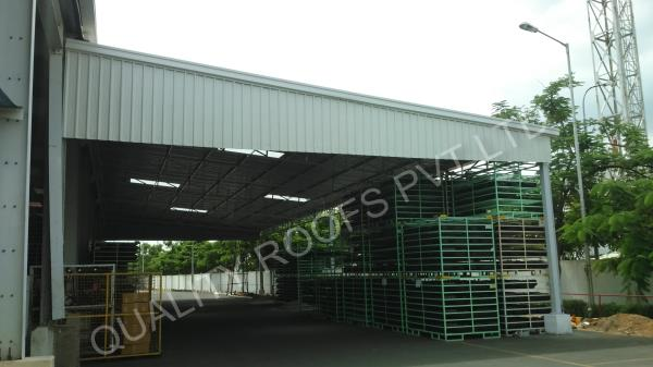 Factory Shed Manufactures In Chennai                         We are the Best Factory Shed Manufactures In Chennai. we are completed several Factory Shed Manufactures In Chennai at very reasonable price. we are Some of its features include coming stringently tested for quality finish, allows for easy installation, capability to withstand extreme weather conditions, offer longer service life, allow easy movement to any place, allows for faster installation, provide four better looks. hese Convention Sheds also give the lovely and beautiful look to the house or building.  These sheds are easy to install and are available in customer's given specification to make them avail the desired product.   The aluminum panels used in these services are obtained from the reliable vendors of the industry.    - by QUALITY ROOFS PVT LTD           Call us : 9841510901, chennai