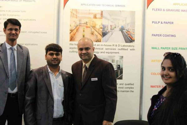 #we providing offset printing service and totally job work in house #great discussion onflexo and water base ink in drupa 2016 with mr.rushay trivedi and mr.mukeshbhai from syntron industries. - by Tri Shaktiya Print & Book Finishing, Ahmedabad