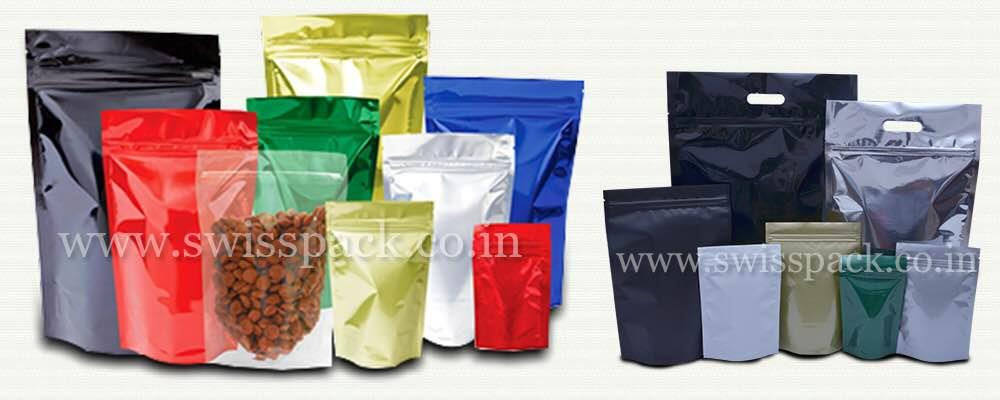 STAND UP POUCHES  Swiss Pac manufactures stand up pouches which are considered as one of the most popular packages. These pouches are available in different sizes, shapes and colors. So you will be sure to find the right bag for your produc - by Swiss Pack Pvt Ltd, Vadodara