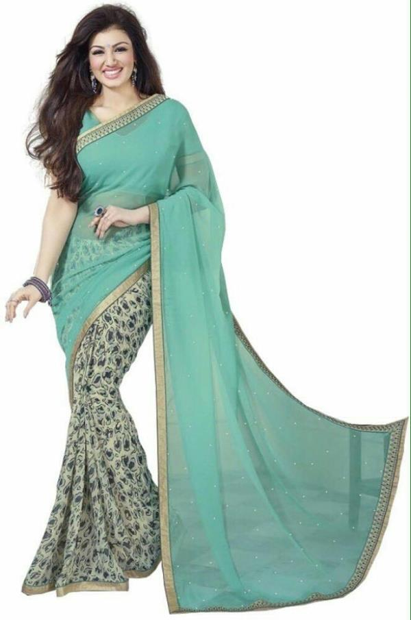 Designer Georgette saree at kalkaji, Rubina Collections INR 875 only - by Rubina Collections, Delhi