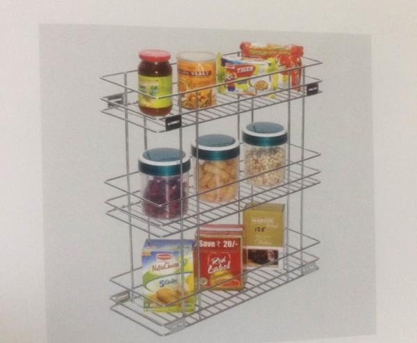 SS. Tribal pullout basket - by SHREE GANESH KITCHEN CONCEPT, Ahmedabad