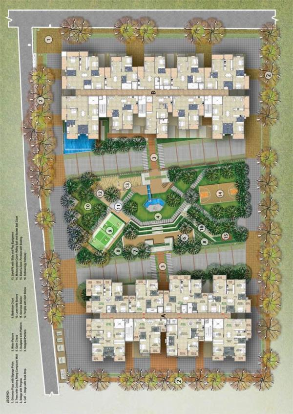 Master plan of rr signature . Providing best living space in Thanisandra Main Road near Hebbal  - by Rr Signature, Bangalore