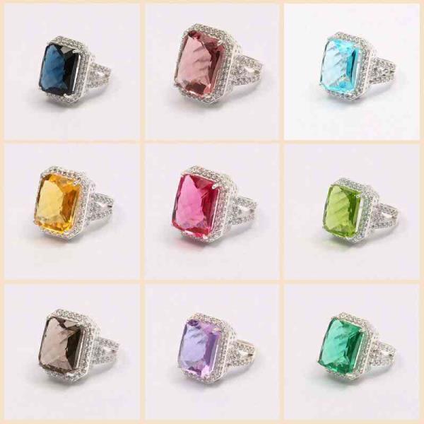 imitation gemstone rings - by S.f. Gems Jaipur, Jaipur