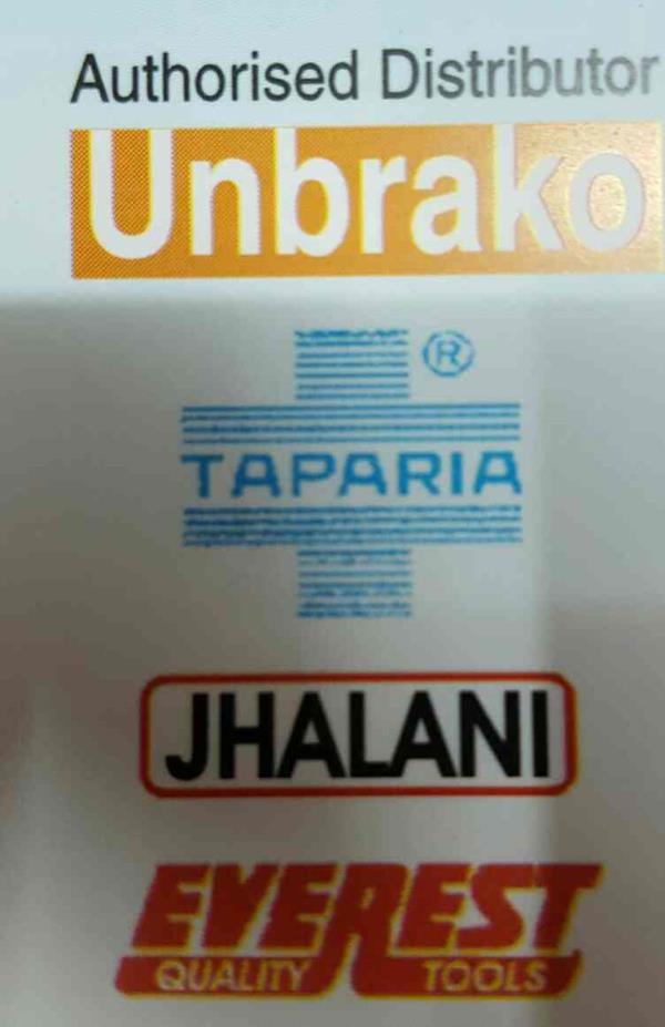 We are the authorised distributor of: #DISTRIBUTOR OF UNBRAKO IN AHMEDABAD# #DISTRIBUTOR OF TAPARIA BRAND IN AHMEDABAD# #DISTRIBUTOR OF JHALANI IN AHMEDABAD# #DISTRIBUTOR OF EVEREST QUALITY TOOLS IN AHMEDABAD#  CONTACT US :: 022161083, 0274 - by P.P. Patel & Co., Ahmedabad