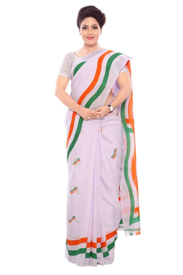 We have made  Speacial Tiranaga Saree for 15th August -Independence Day Celebration. - by Amardeep Udyog, 31 Shilpin Centre, 40 G.D.Ambekar Marg, Wadala West Mumbai