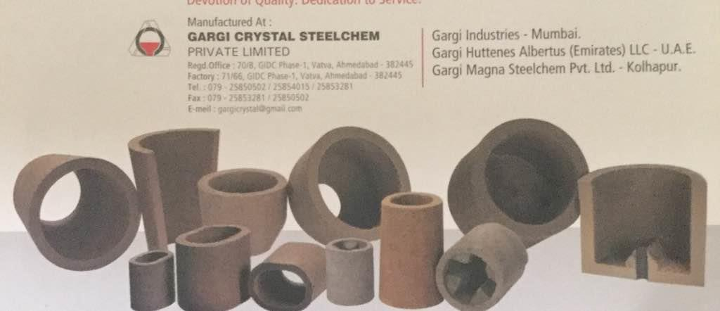 Plz contact for EXOTHERMIC SLEEVES Manufacturers in India  - by GARGI CRYSTAL STEEL CHEM PVT LTD, Ahmedabad