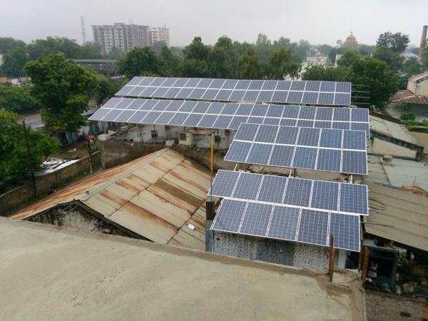 54 kW solar rooftop plant installed successfully at alwar Rajasthan  - by Esso Fab Tech Pvt Ltd., Ahmedabad