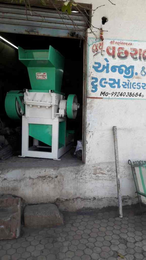 "We are manufacturer of plastic scrap grinder machine in Rajkot. We are dealing in major cities like Mumbai.  Product size 16"" - by Jay Vachhraj Engineering , Rajkot"