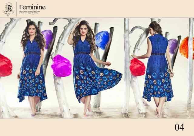 New western style Georgette printed kurtis are here...  TIPS & TOPS - by Kashish Studio, Ahmedabad