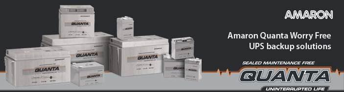 Amaron Quanta UPS Batteries  - by V G Batteries, Hyderabad