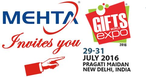 Mehta Cad Cam Group is delighted to invite you at Gifts World Expo.  We request you to obliged us with your valuable presence at our stall. You can also meet Mr. Shailesh Mehta at the venue.  Venue: Pragati Maidan, New Delhi - by MEHTA CAD CAM SYSTEMS PVT LTD, Ahmedabad