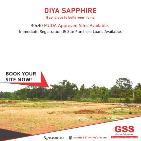 Site behind Airport... MUDA Approved, Immediate registration.. - by GSS Project Consultant (P) Ltd, Mysore