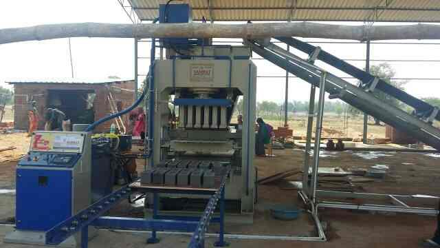 Automatic Fly Ash Bricks Machine  => We are one of the best in Automatic Fly Ash Bricks Machine Manufacturer in Morbi as good price with best quality. we are also supplying to Rajasthan, Bhopal, Mumbai, Gujarat, Delhi, Odissa, Madhya Prades - by Samrat engineering Works, Morbi