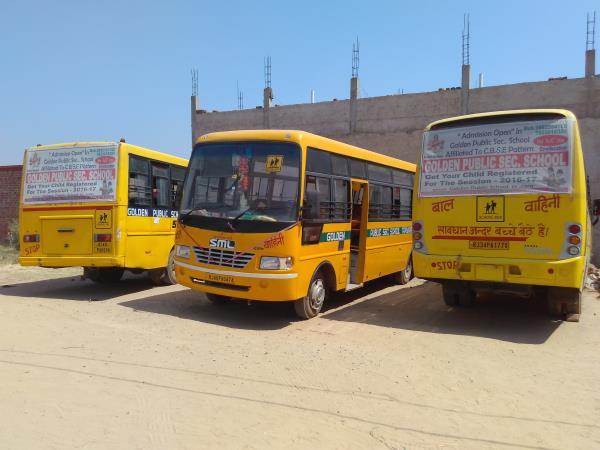 The school bus  - by Golden Public School, Alwar