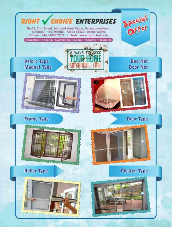 we have entire model having in mosquito net  - by Right Choice Enterprises -7299454433, Chennai
