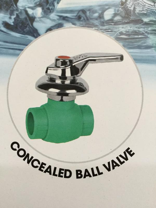 Concealed ball valve is our core products at good quality in Ahmedabad  - by Poly Fusion Piping System, Ahmedabad