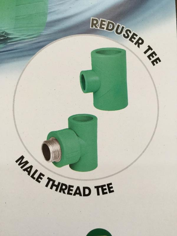 Male thread tee available at best price in Ahmedabad  - by Poly Fusion Piping System, Ahmedabad
