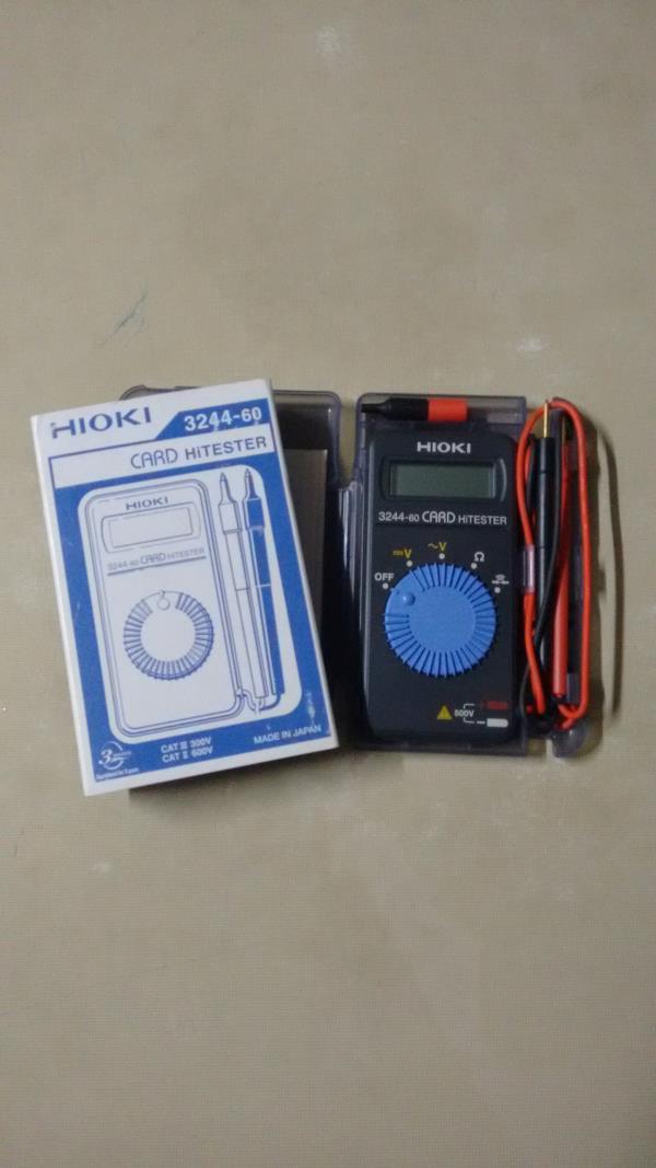Digital Multimeter HIOKI 3244-60. Made in Japan Pocket Size. Small, Handy. Approved in railways, military. Available in India, Kolkata, New Delhi, Mumbai. Multi Tester, Digital