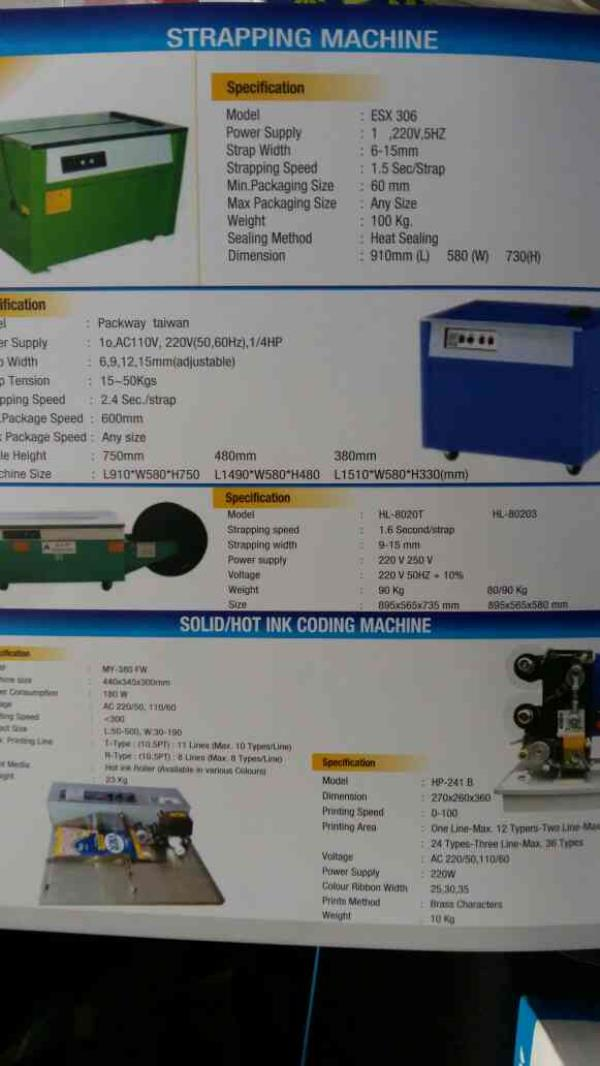Strapping Machines and Coding Machines   we have wide and customised ranges products in best quality and lowest price in India.. - by SHIV PACKAGING, Ahmedabad
