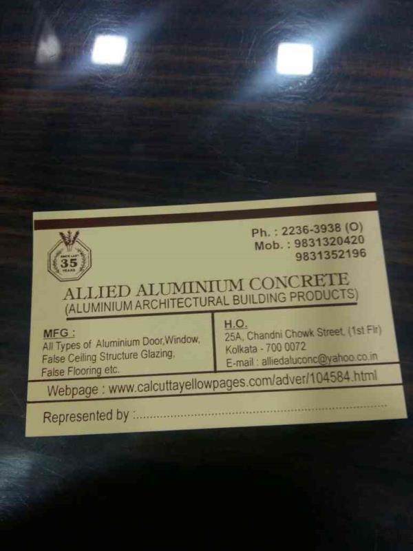 aluminium door manufacturers - by Allied Aluminium, Kolkata